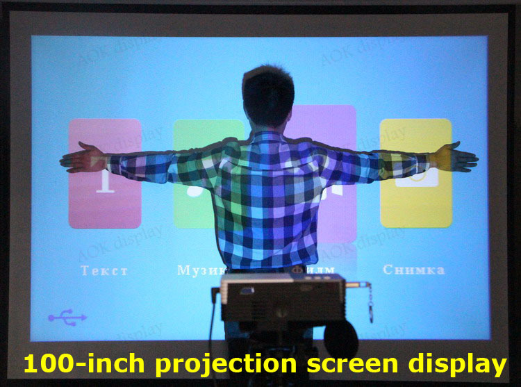 Support 1920*1080 Big Discount New 2015 LED Mini Video LCD 1080P 3D Home Theater Projector Full HD Proyector Beamer Projetor