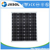 China supplier the lowest price 80w mono solar panel with CE TUV certificate and high efficiency