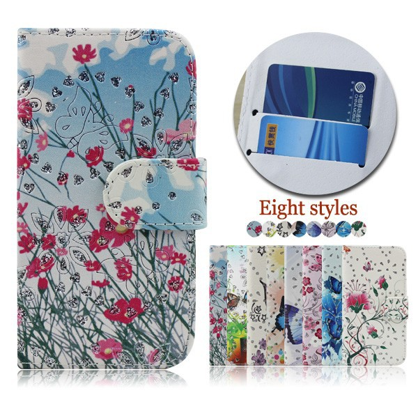 Butterfly wallet phone case for k-touch TOUCH3,drawing wallet phone cover for k-touch TOUCH3