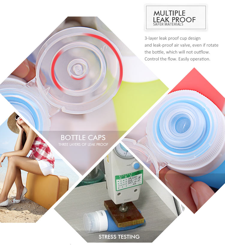 Food Grade Portable Squeezable And Refillable Travel Toothpaste Tube