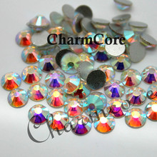 Factory Supply Flat Back Non Hot Fix Clear AB Rhinestone For Nail Art Fashion