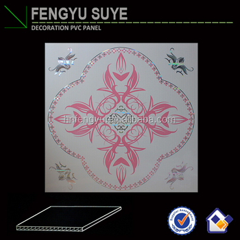 morden design hot stamping pvc ceiling board decoration material