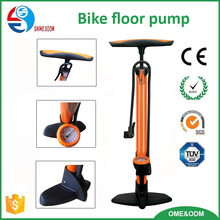 Factory Direct Wholesale super quality Iron Bicycle/Bike Floor Pump with Gauge