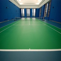 Simple Color Surface Treatment and Plastic Type Sports Tennis Flooring