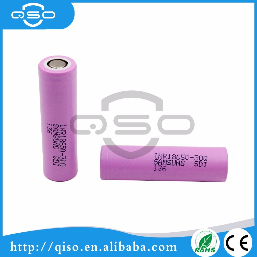 SAMSUNG Rechargeable Korea inr18650-30q 3000mah 3.7v Vape Mods E cigarette Battery prices in pakistan