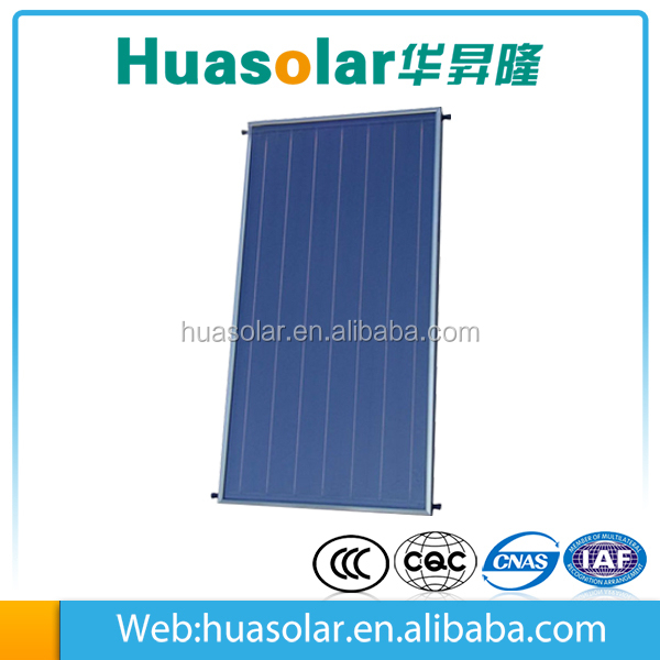 Renewable energy hot water heater collector flat plate solar collector