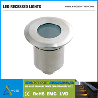 YJQ-0024 IP67 RGB low power 1W min round wall ground ceiling recessed LED Cabinet Lights