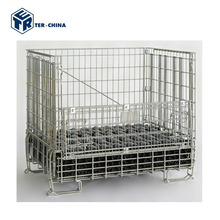 Galvanized Collapsible Storage Steel Cage Box Pallet