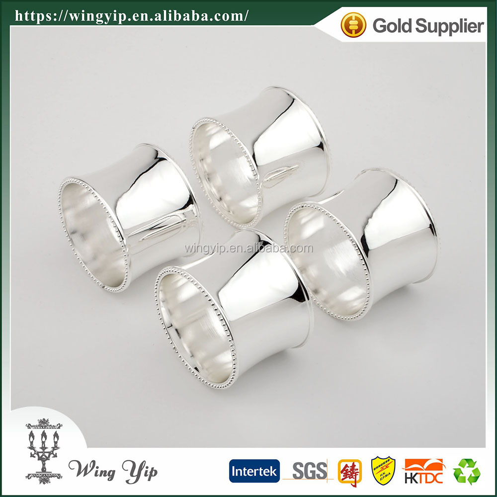 Wholesales Custom made Table Top Beaded Metal Napkin Ring for souvenir