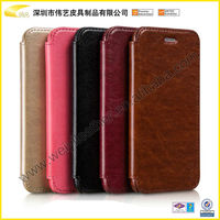 Luxury PU Leather Flip Case For Apple iPhone 6 Custom Cheap Cell Phone Case Leather 4.7inch Mobile Phone Case