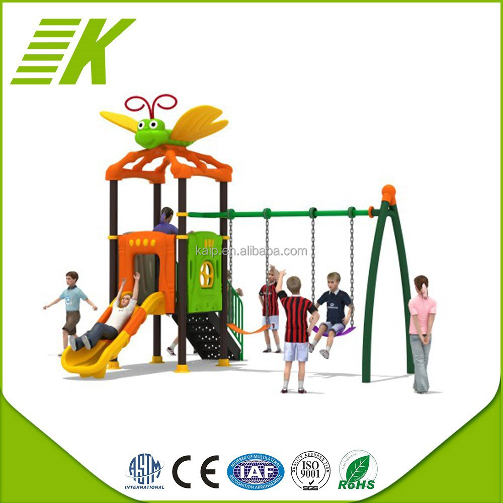 2015 Kaip playground soft ground for children/kids playground plastic fort/swing outdoor playground