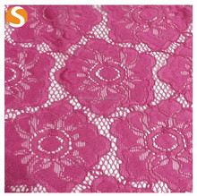 High Quality Knitted Nylon Spandex Floral Lace Fabric for Dress