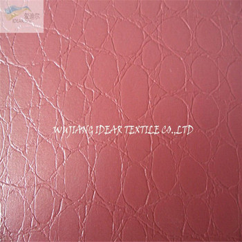 PVC Embossed Bright Face Leather