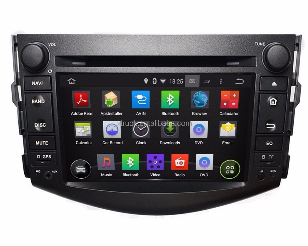 7 Inch Android 4.4.4 OS GPS Navigation Radio 1024x600 Quad Core 1.6G CPU 16G Flash Car DVD Player for Toyota RAV4