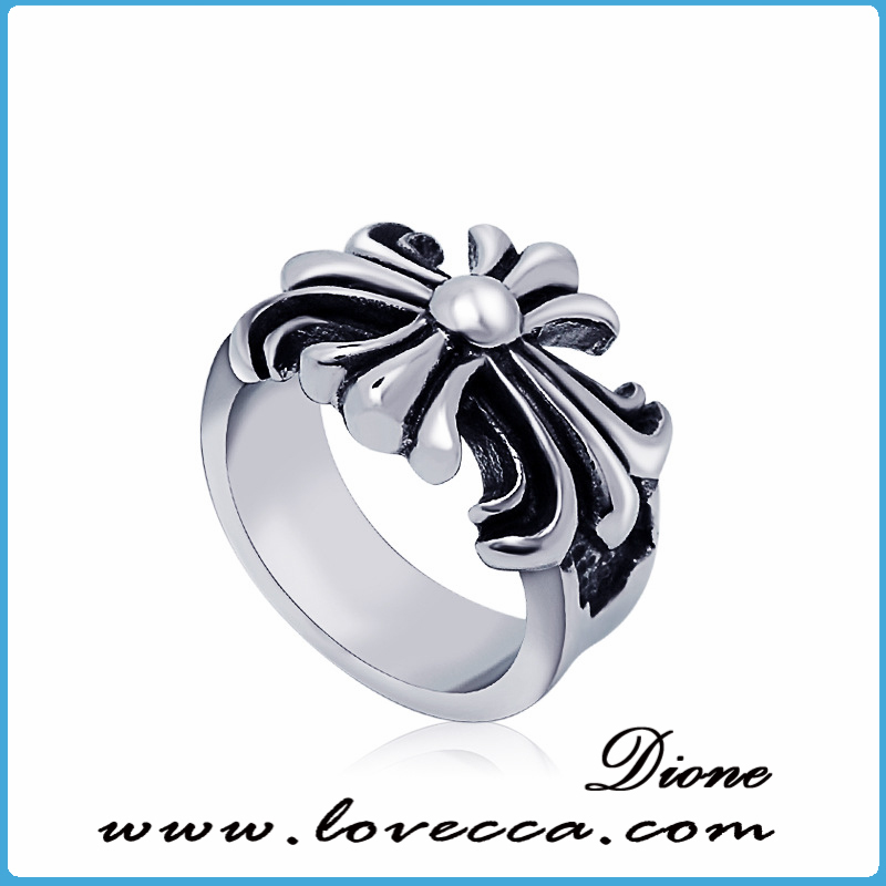 unique charm high quality women skull gothic stainless steel ring
