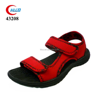 red upper materials to make stylish flat sandals girls