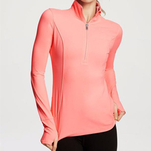 half zip design customized order quality SUPPLEX lycra yoga spandex jacket