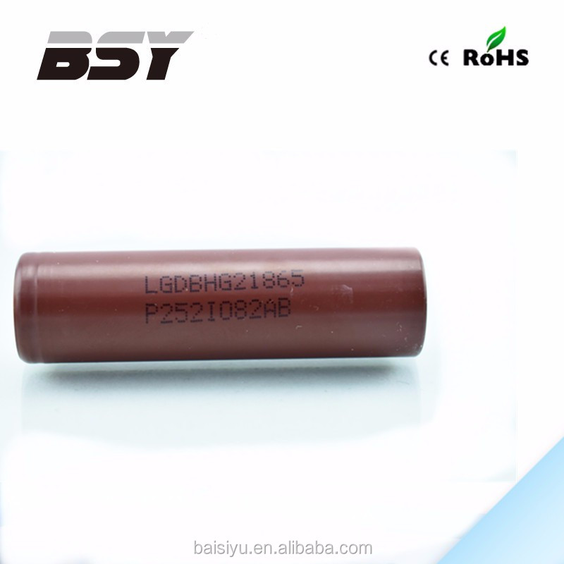 Wholesale chocolate LG HG2 3000mah 3.7v rechargebale li-ion battery original LGDBHG21865 18650 battery lion battery