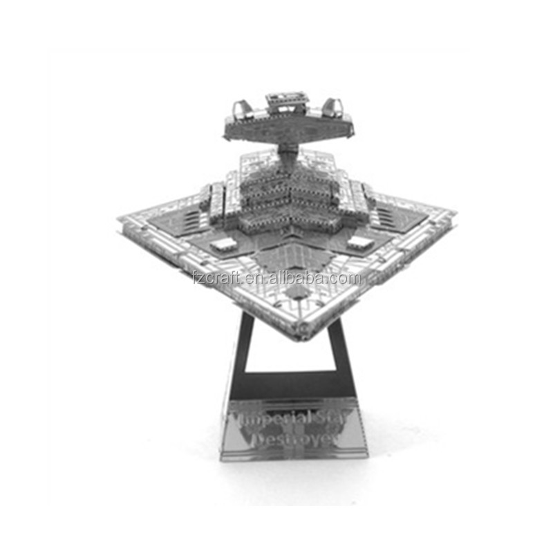 3D Metal Star Puzzle War AT-AT Walker R2D2 TIE Fighter Millennium Falcon 10179 Imperial Star Destroyer X Wing robot toy