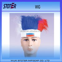 cheap 2016 European cup PET Russian national flag football fans Wig