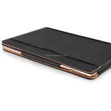 Hotsale File Folder Leather Wallet Smart Tablet Case For Ipad Air 2 Ipad 6 black tan case Leather cover For Ipad 5
