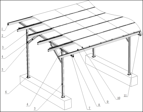 carport structure for solar energy