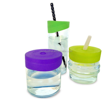 Best selling products in america for Baby silicone glass bottle with lid