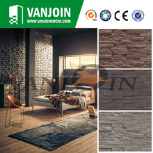 Brown Color Strip Brick Internal Wall Tile Breathable Tiles
