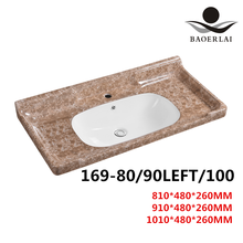 Baoerlai chaozhou factory hight quality colorful ceramic bathroom wash basin