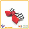 2016 Promotion polyester clear bobby pin with zebra grosgrain ribbon bows