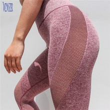 Womens Seamless Gym Leggings Custom Engergy High Waisted Compression Fitness Tights Running Workout Sports Capri yoga pants