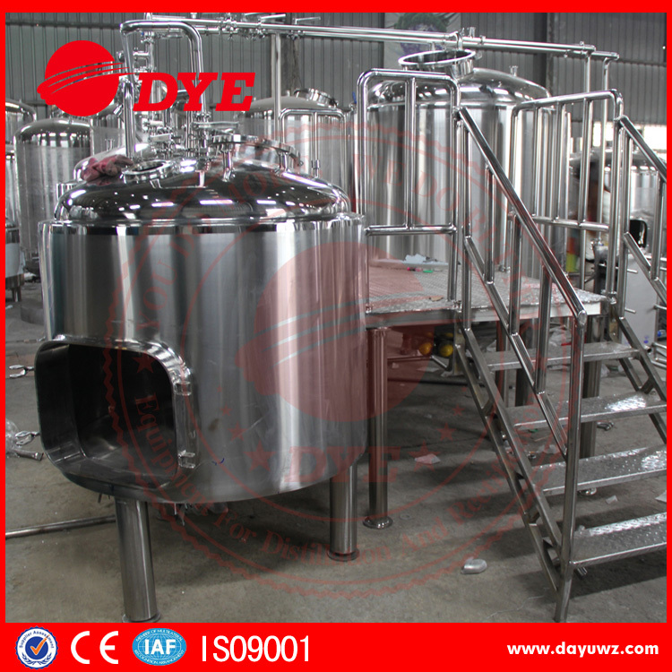 SUS 304 stainless steel industrial beer mash and lauter tun