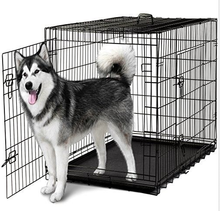 Wire Metal Cage Pet Cat / Dog Double Door Kennel Crate Free Divider