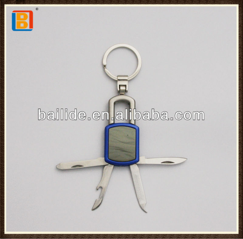 4 In1 Lock Shape Gift Knife With Key Ring For Advertising