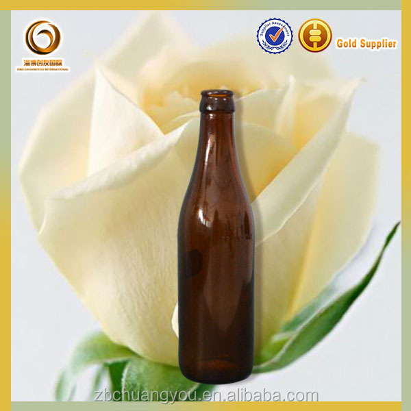 Crown top customized 0.33l glass bottle