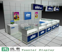 modern glass display case/showcase cell phone showroom design