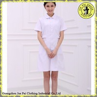 Women white medical staff uniforms dress