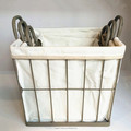 metal wire storage baskets with liners wholesale
