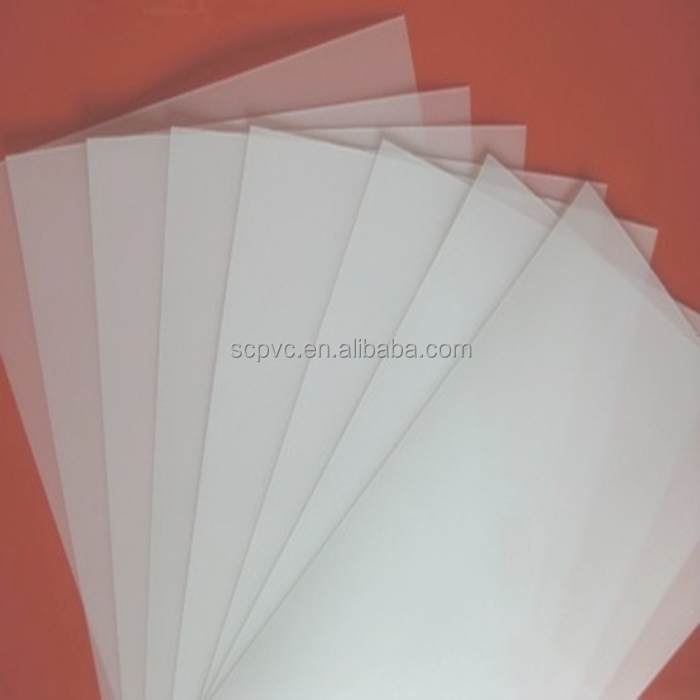 Natural color theremoforming hard clear PP film printing material