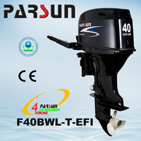 F40BWL-T-EFI 40HP 4-stroke tiller handle electric long short shaft outboard engine boat motor outboard motor