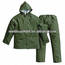 100% Waterproof Good Quality Breathable Windbreaker Military Rain Suit