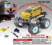 1:18 RC Music Lights Child Acrobatics Dancing Car