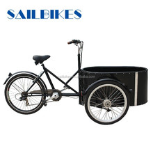 family bikes round cargo box tricycle with pedals