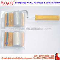 Mohair roller cover paint rollers with plastic handle
