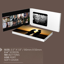 2.4 4.3 5 7 inch lcd video business cards with USB cable for company greeting