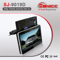 Lowest price 9 inch super slim clip on headrest dvd monitor