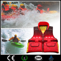 Waterproof Safety light flash LED swimming life jacket led surfing life vest