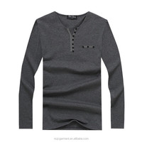 2016 Hot Cool Long Sleeve Men T Shirt Cotton V-neck Casual Boy Men T-Shirt