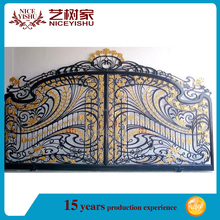 top 10 best seller simple decorative swing sliding gate designs with galvanize sheet factory wrought iron main gate design homes