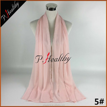 Latest Design Wholesale Muslim Hijab Islamic Chiffon Crepe Plain Beach Shawal Arab Hijabs Scarf For Women